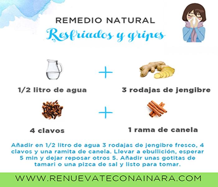 Remedio natural para resfriados y gripes