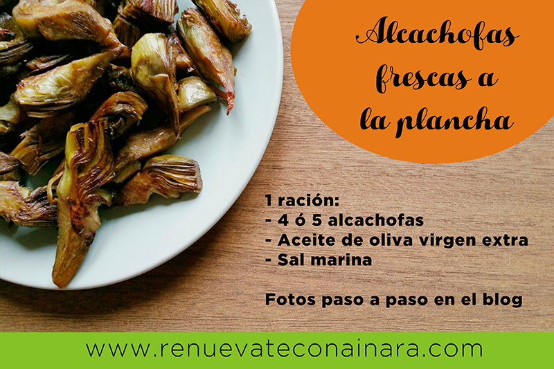 Alcachofas frescas a la plancha