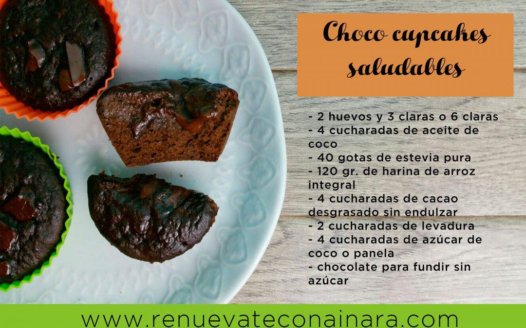 Choco cupcakes saludables