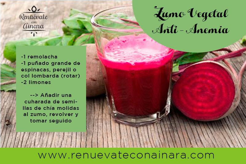 Zumo vegetal Anti-Anemia