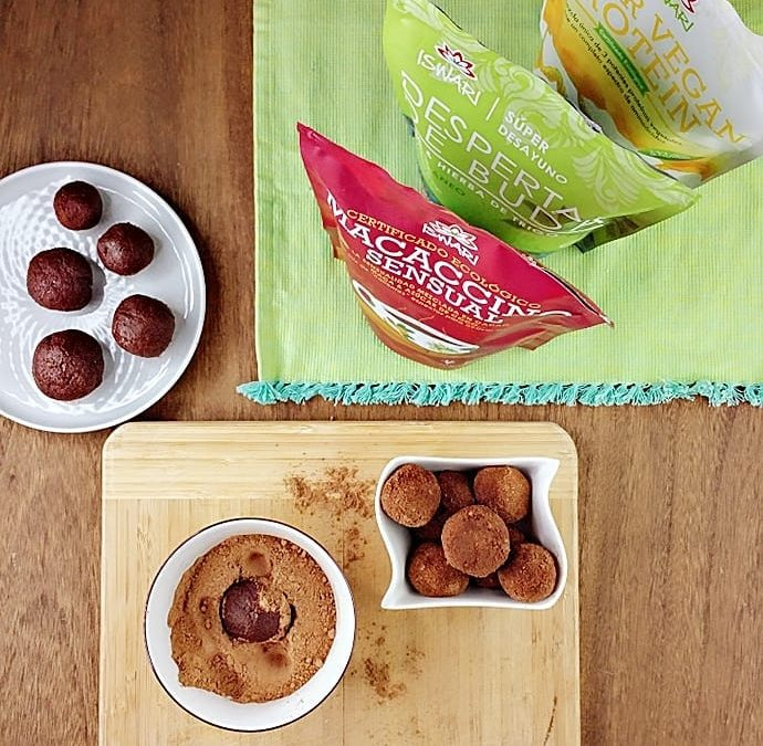 Bolas de snack proteicas