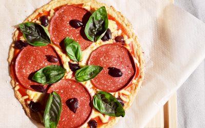 Pizza vegana sin harinas